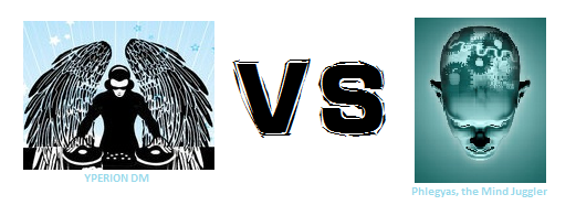 Yperion DM VS Phlegyas the Mind Juggler - logo